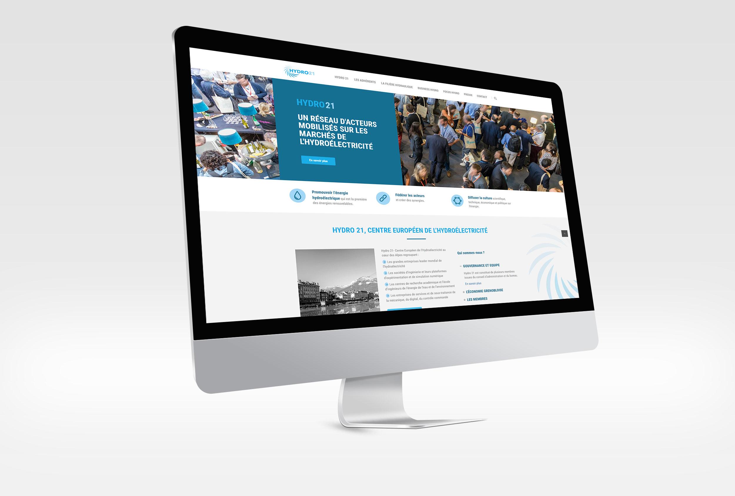 HYDRO 21 : Webmastering du site internet - Grenoble (38)