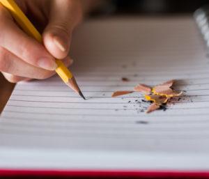 Photo bloc note avec crayon de papier