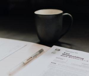 Photo d'une tasse avec agenda