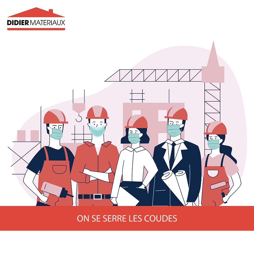 Illustration d'ouvrier sur chantier